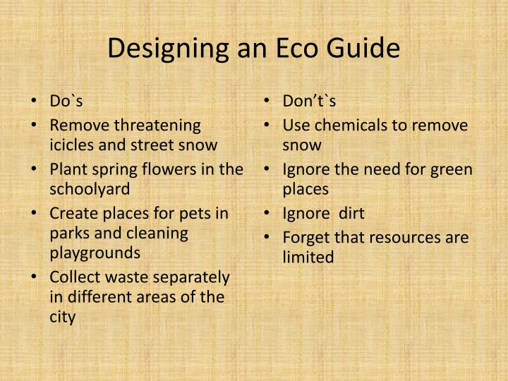 Designing an Eco Guide