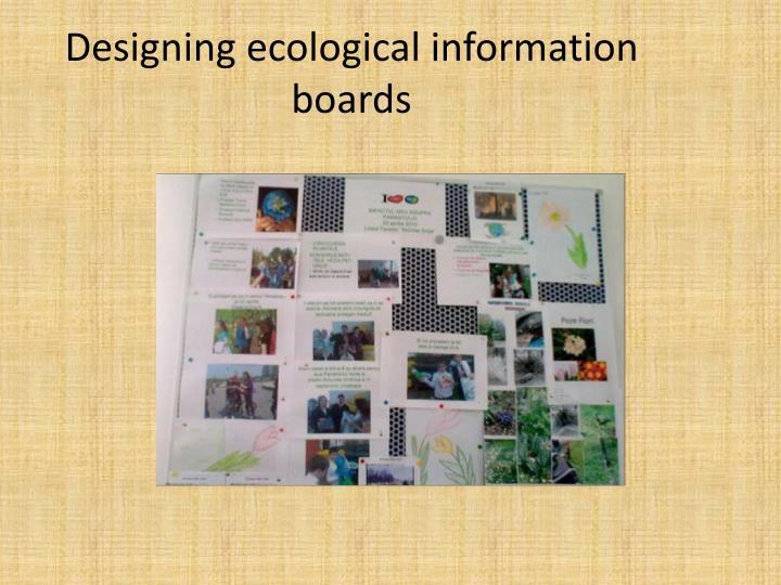 Designing ecological information boards