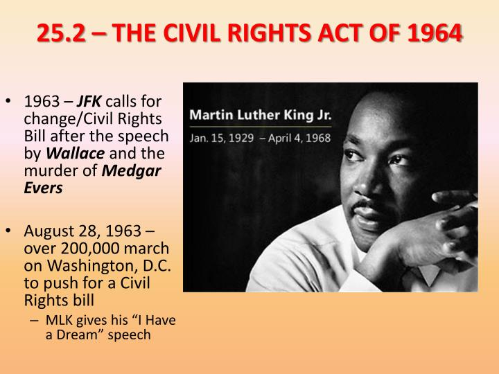 25.2 – THE CIVIL RIGHTS ACT OF 1964