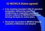 22 mowca states agreed