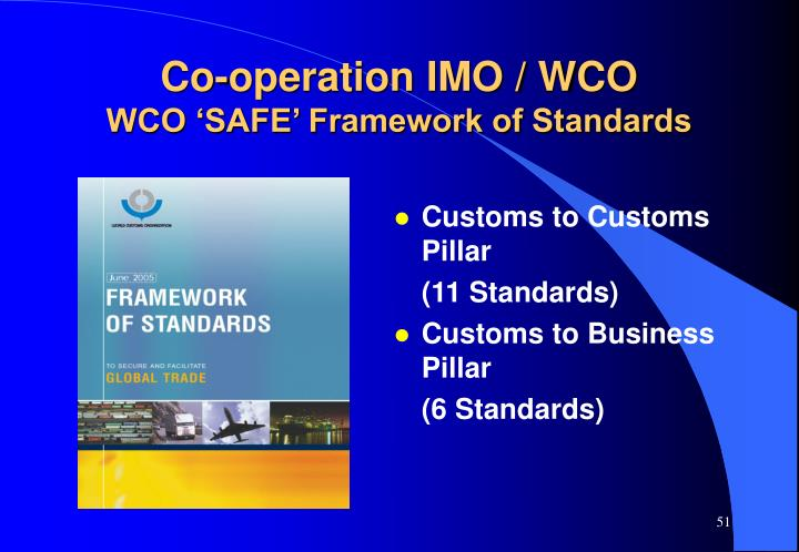 Co-operation IMO / WCO