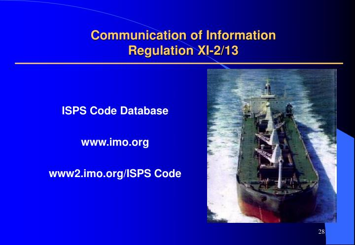 Communication of Information