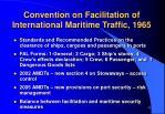 convention on facilitation of international maritime traffic 1965