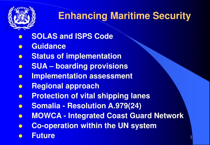 Enhancing Maritime Security