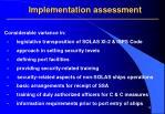 implementation assessment