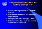 long range identification and tracking of ships lrit