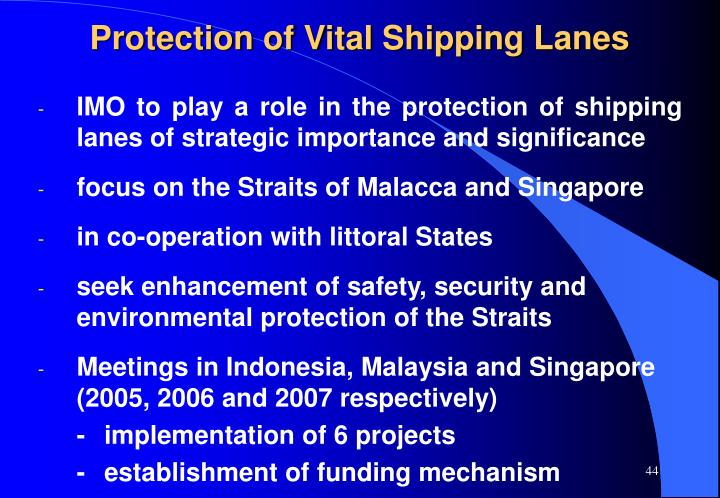 Protection of Vital Shipping Lanes