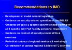 recommendations to imo