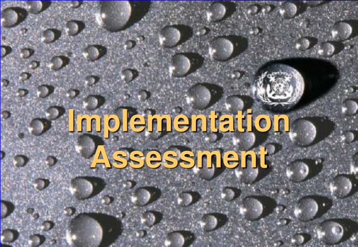 Implementation Assessment