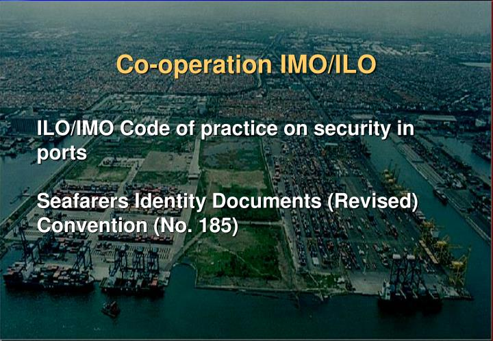 Co-operation IMO/ILO