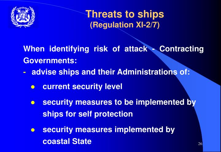 Threats to ships