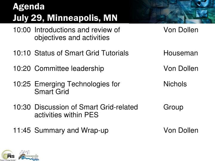Agenda july 29 minneapolis mn