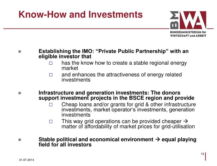 Know-How and Investments