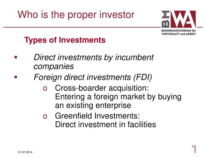 Who is the proper investor