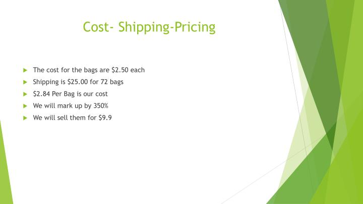 Cost- Shipping-Pricing