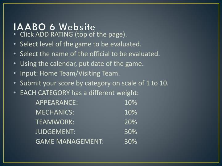IAABO 6 Website