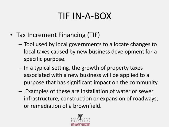 TIF IN-A-BOX