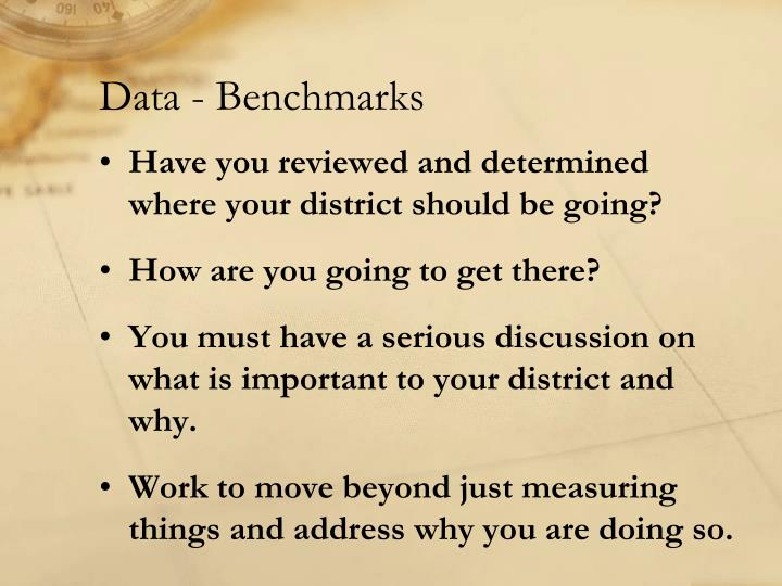 Data - Benchmarks