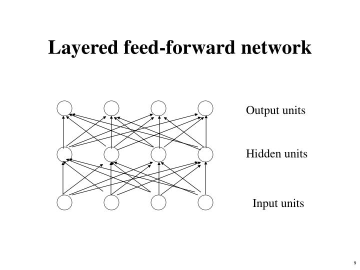 Layered feed-forward network