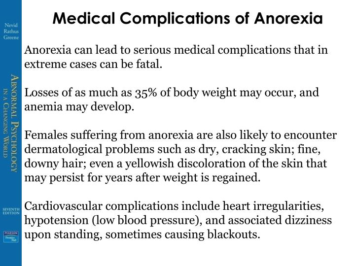 Medical Complications of Anorexia