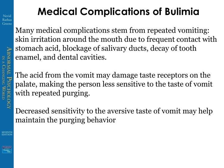 Medical Complications of Bulimia