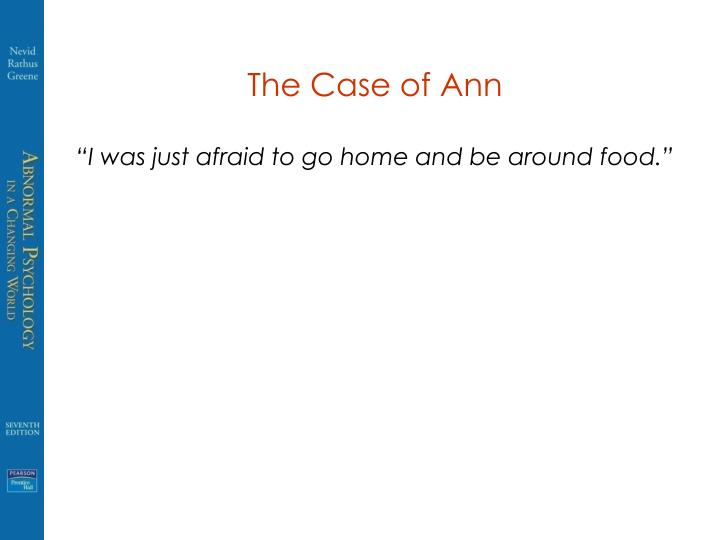 The Case of Ann