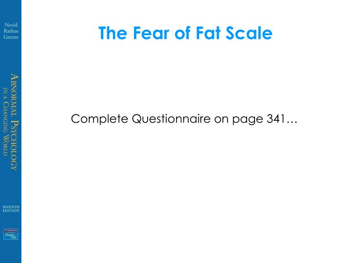 The Fear of Fat Scale