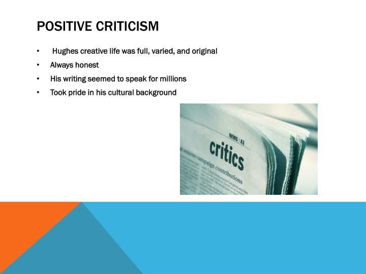 Positive Criticism
