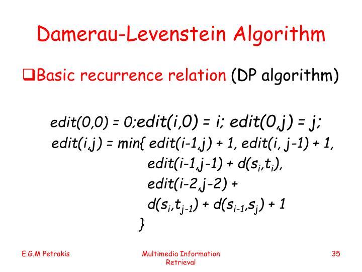 Damerau-Levenstein Algorithm