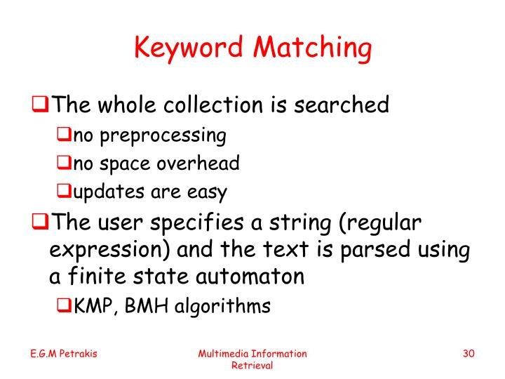 Keyword Matching