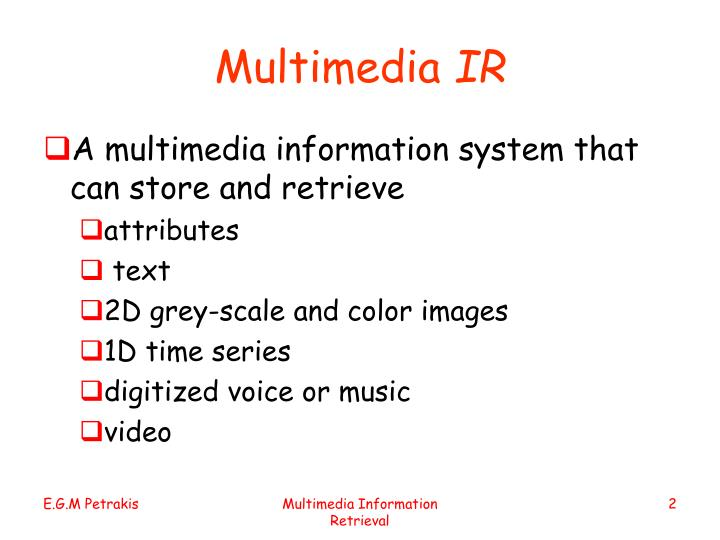 Multimedia ir