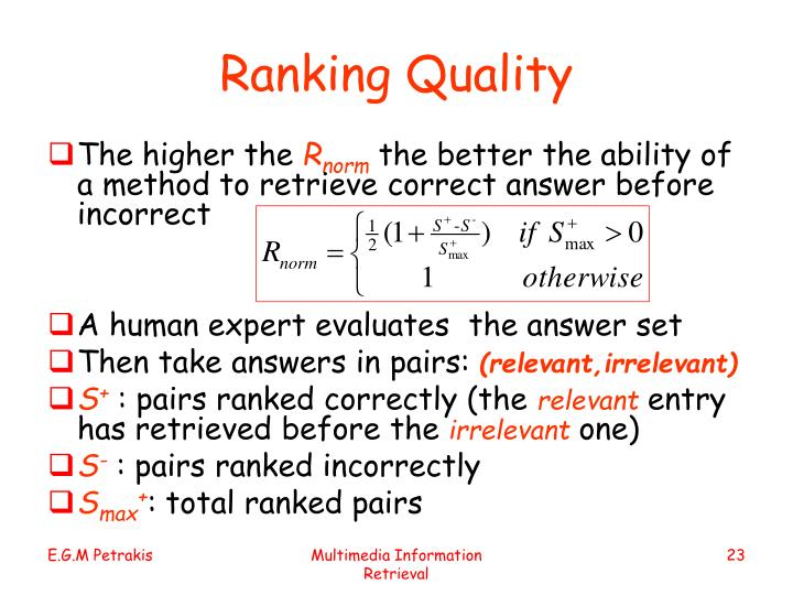 Ranking Quality