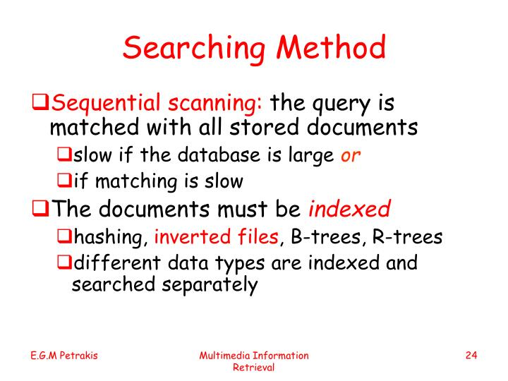 Searching Method