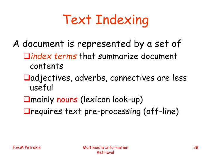 Text Indexing