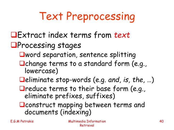 Text Preprocessing