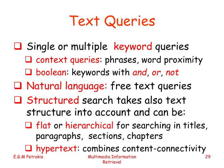 Text Queries