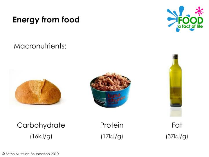 Energy from food
