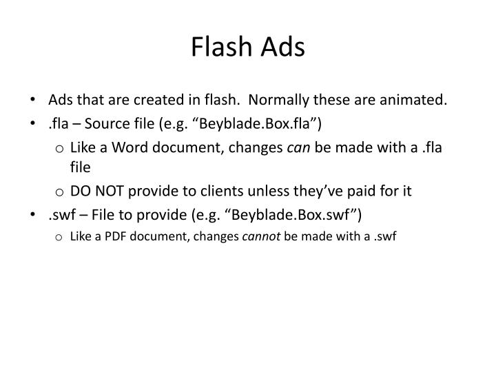 Flash ads