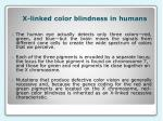 x linked color blindness in humans