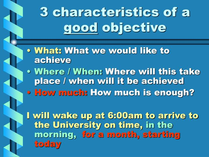 3 characteristics of a