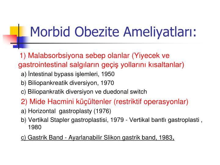 Morbid Obezite Ameliyatları:
