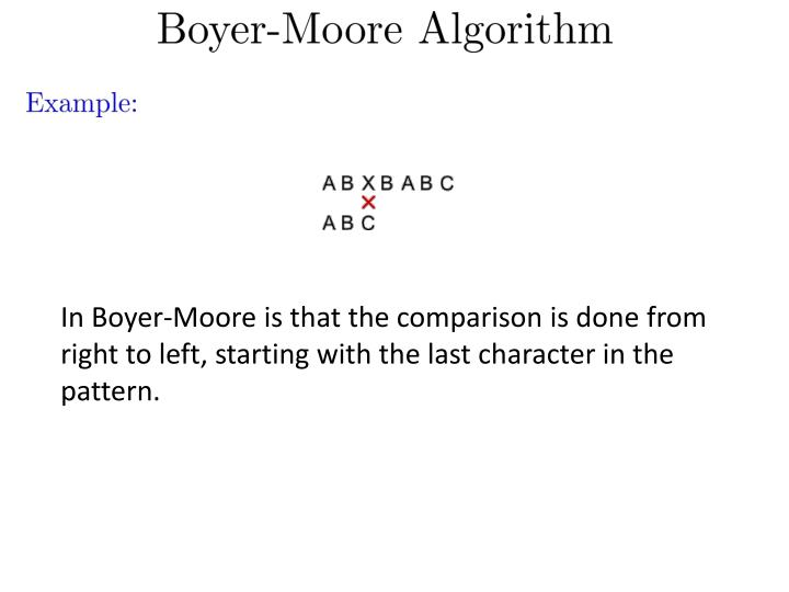 In Boyer-Moore