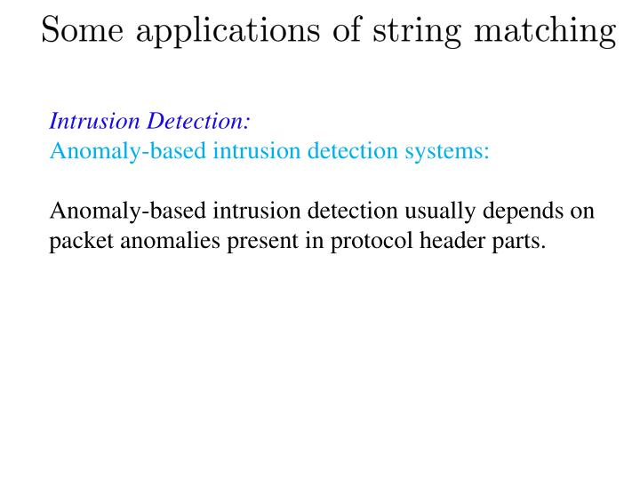 Intrusion Detection: