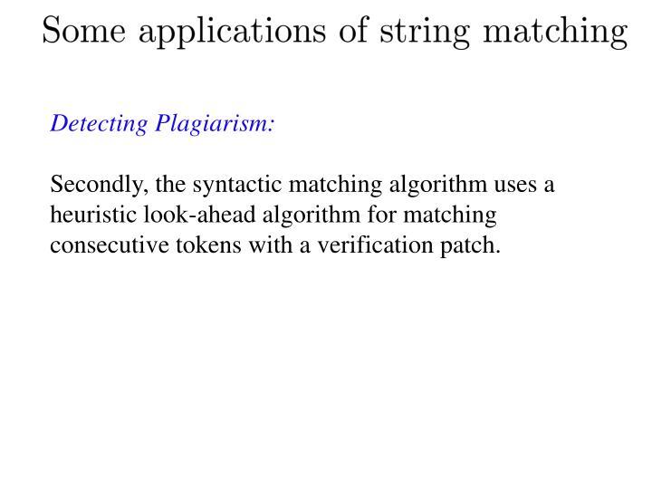Detecting Plagiarism: