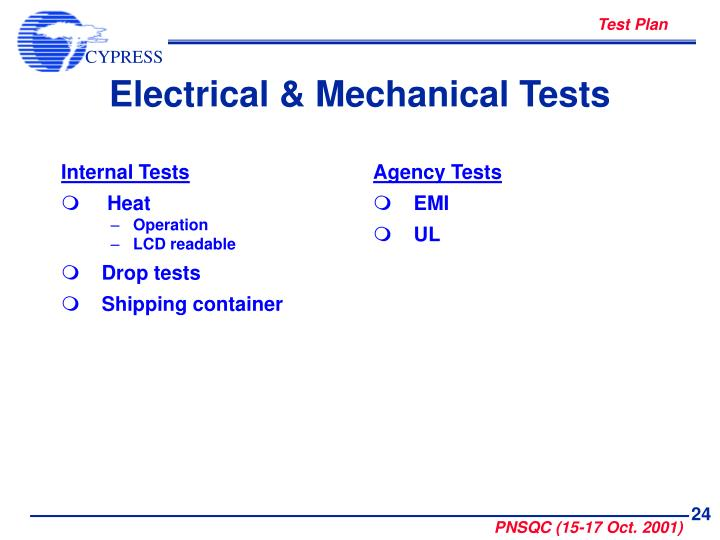 Internal Tests