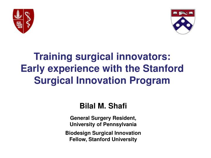 Training surgical innovators: