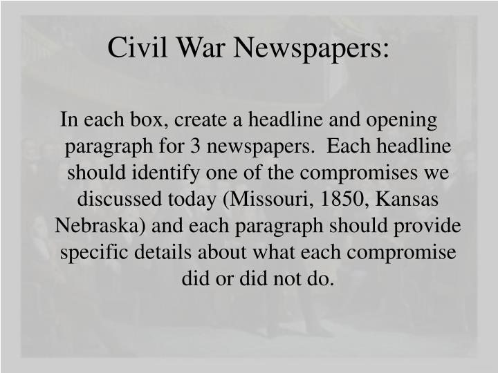 Civil War Newspapers: