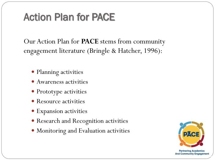 Action Plan for PACE
