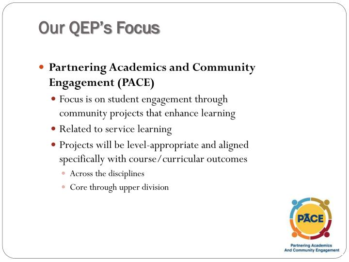 Our QEP's Focus