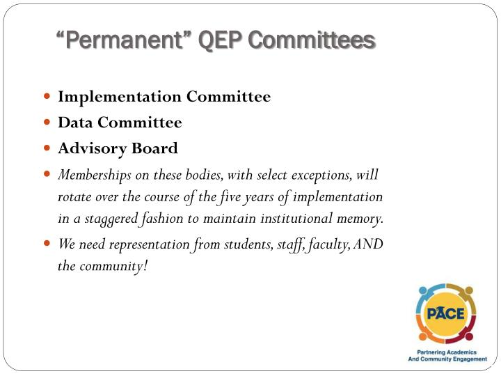 """Permanent"" QEP Committees"